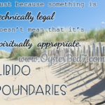 Libido Boundaries?