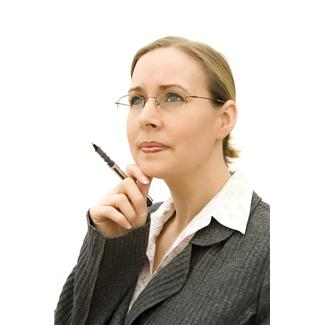 assistants,challenging,deep thoughts,difficult problems,fotolia,pens,secretaries,situations,women