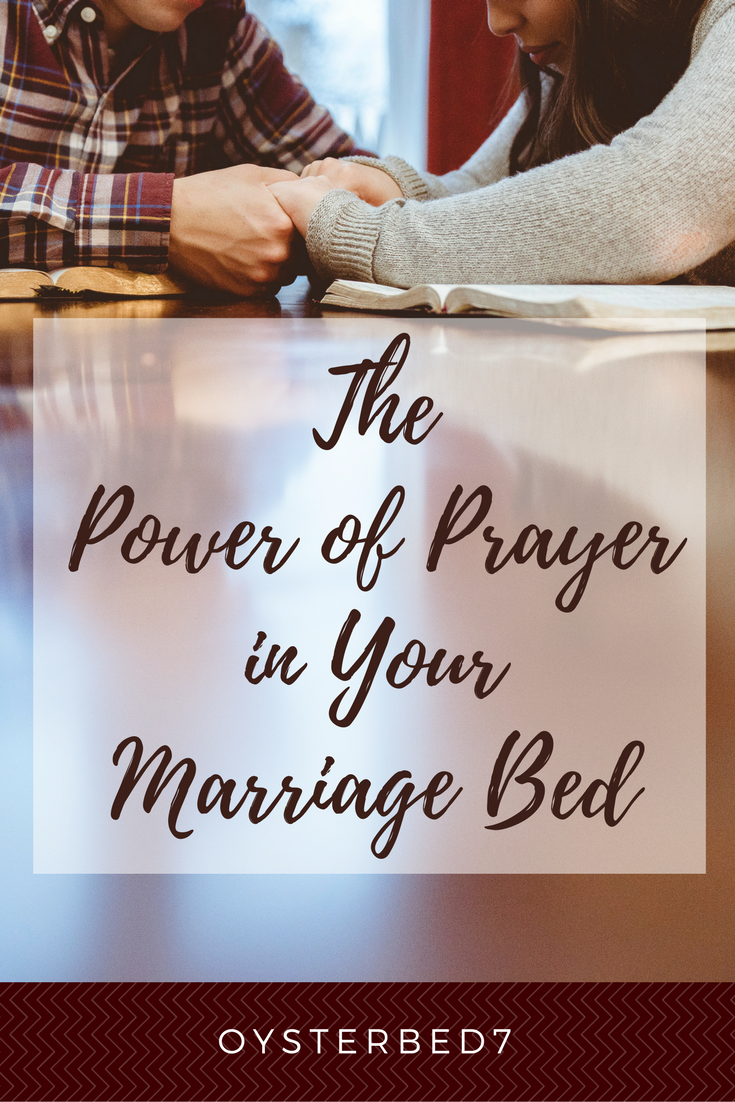 It's OK to pray about your intimate life.  Things not going smoothly?  That's the perfect time.
