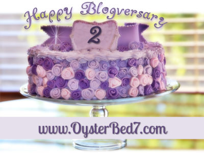 Happy 2nd Blogversary, OysterBed7