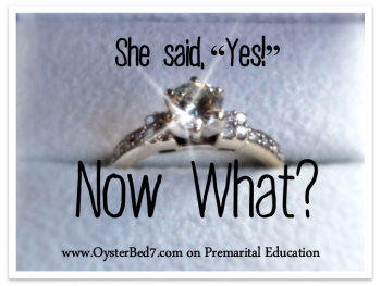 "She said, ""Yes!""  Now What?  Premarital Skills"