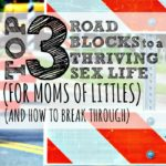 Top 3 Roadblocks to a Thriving Sex Life (for moms of littles) (and how to break through)