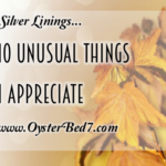 Silver Linings….10 Unusual Things I Appreciate