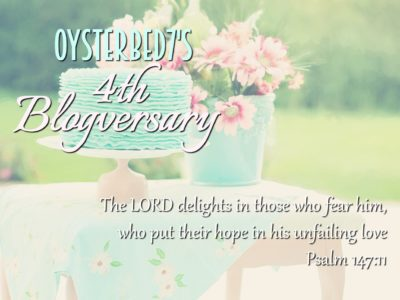 Happy 4th Blogversary, OysterBed7!