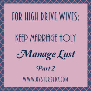 Manage Lust part 2